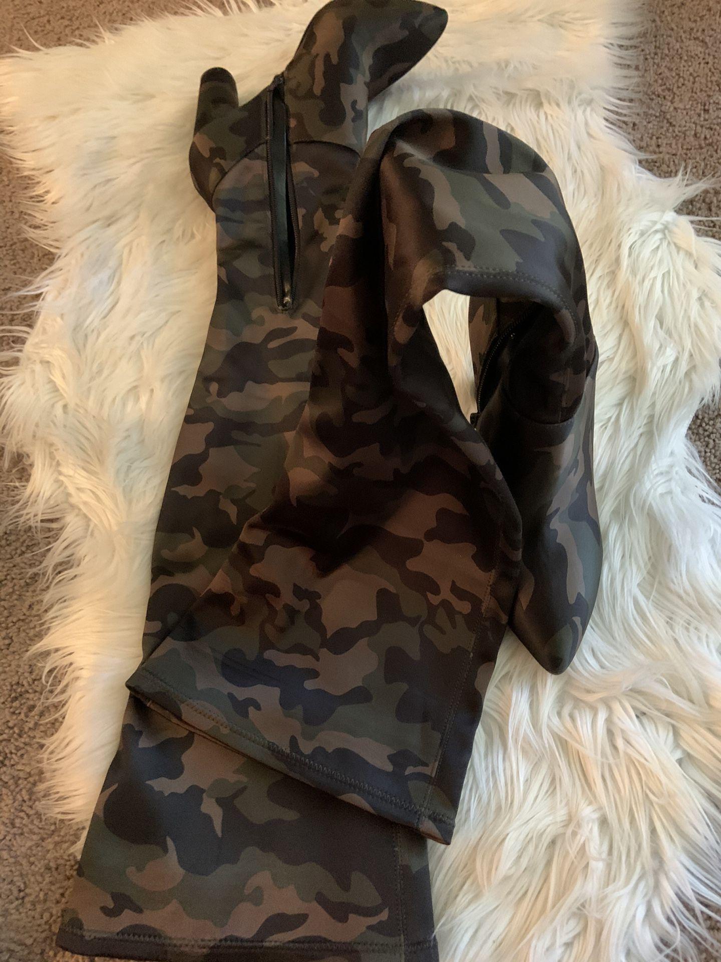 ALDO Army Fatigue High Boots (Size 8.5)