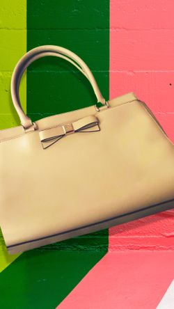 """Kate spade New York Montford Park Smooth Jovi Satchel In """"A perfect Beige"""" (NWOT) Thumbnail"""