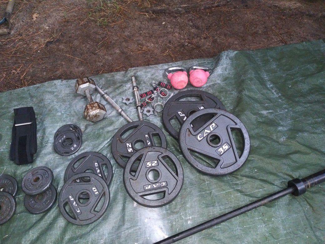 Cap weight set