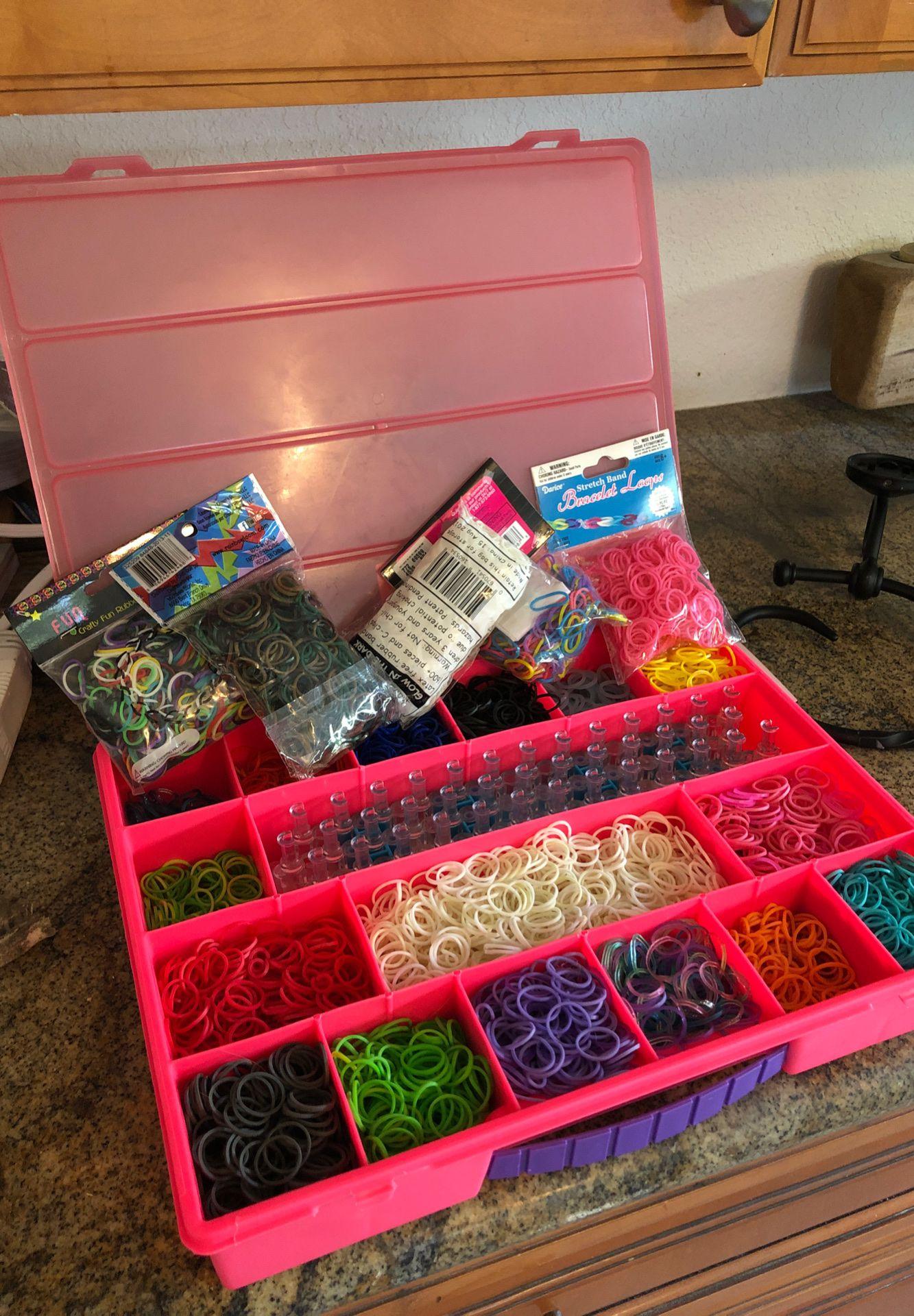 Rainbow Loom supplies