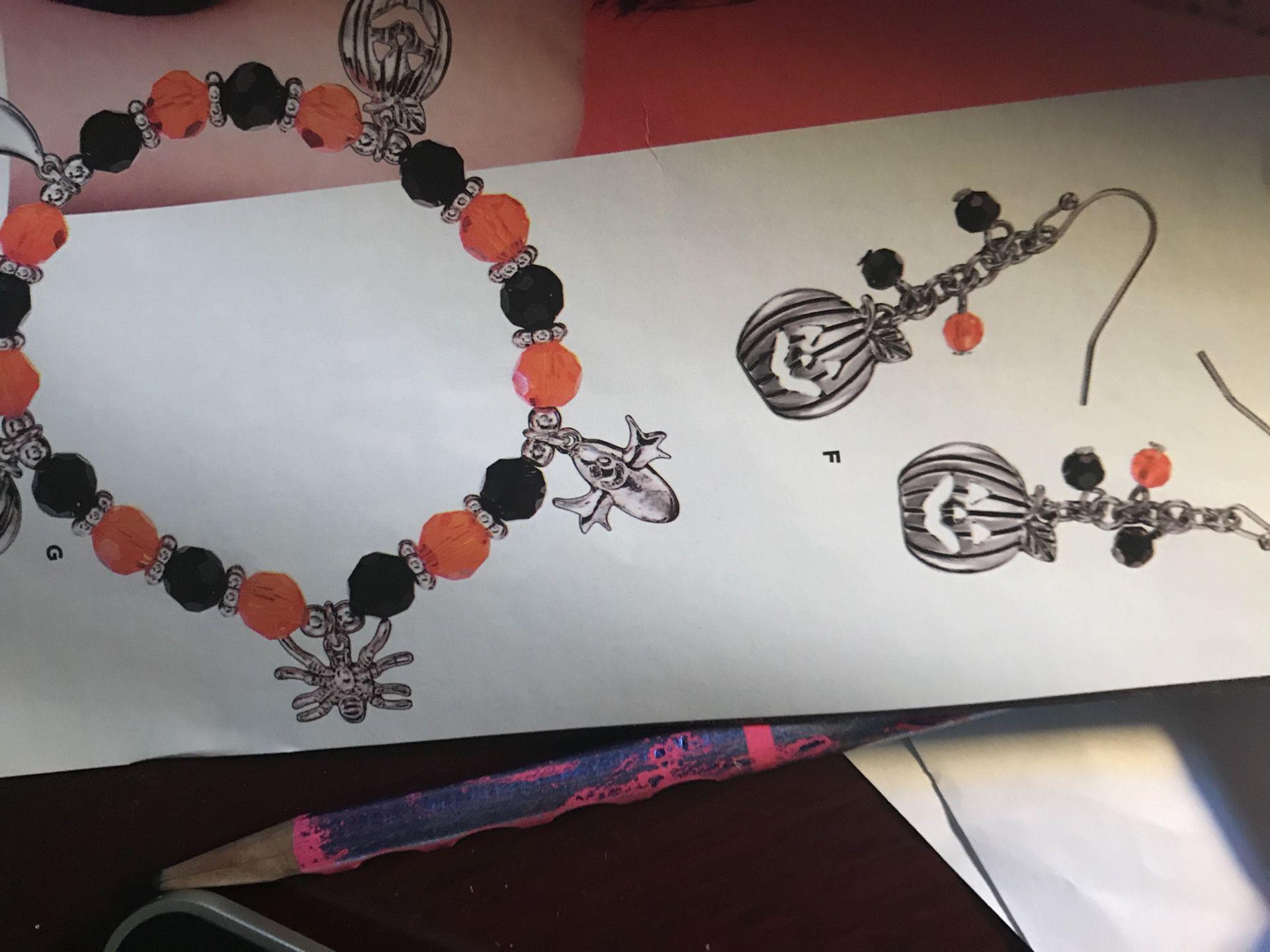 Assortment of Halloween decorations