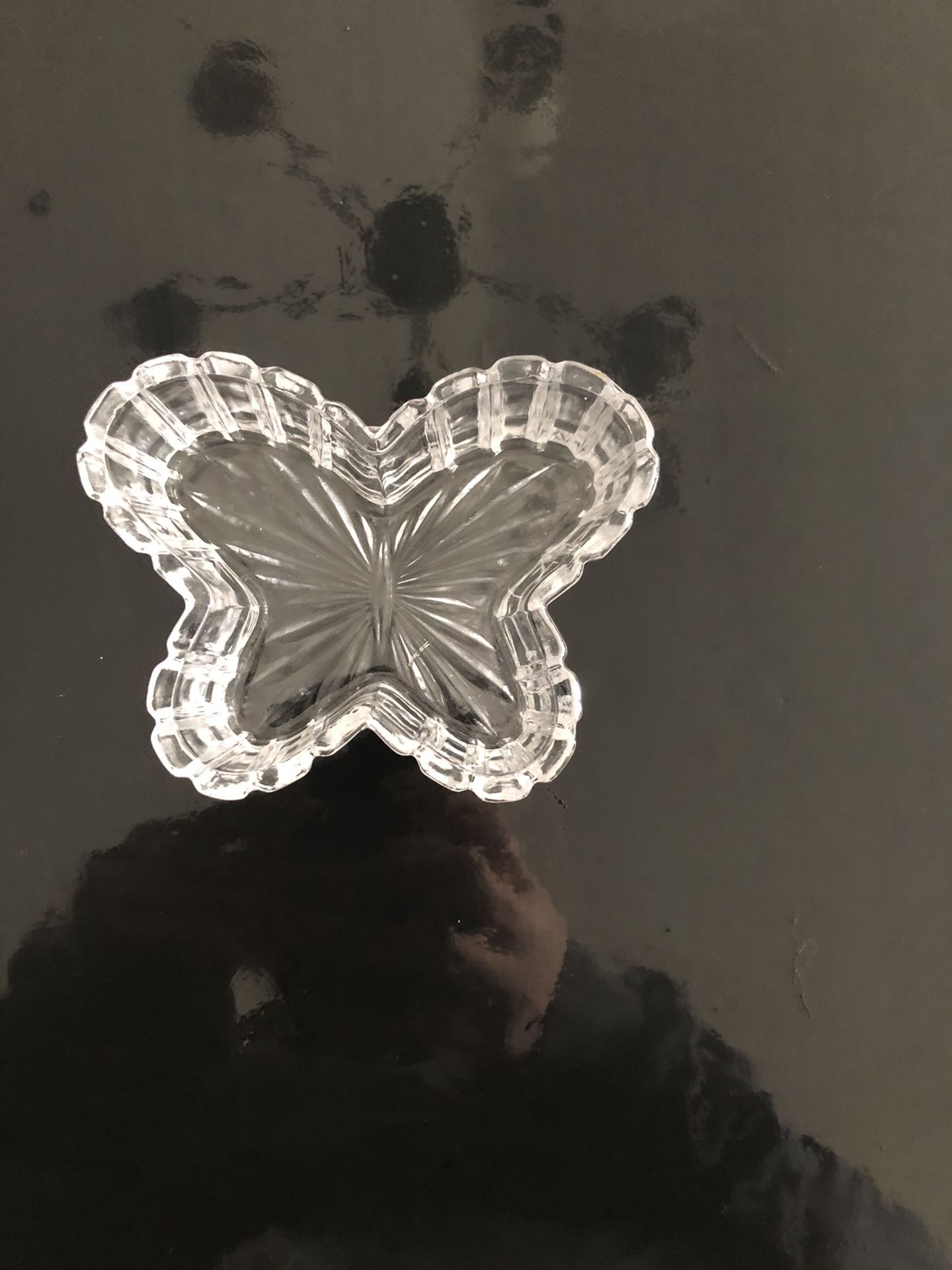 Butterfly glass, ring holder, butterfly, glass decor