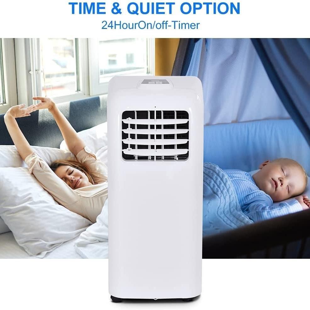 Gymax Portable Air Conditioner Cooling Fan Dehumidifier 8000BTU w/ Remote Control