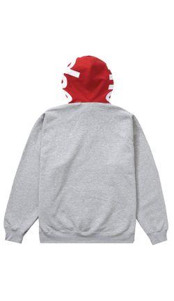 Supreme Contrast Hooded Sweatshirt Hoodies Heather Grey Size XL Thumbnail