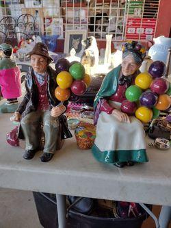 Royal Daulton Ballon Sellers Couple Thumbnail