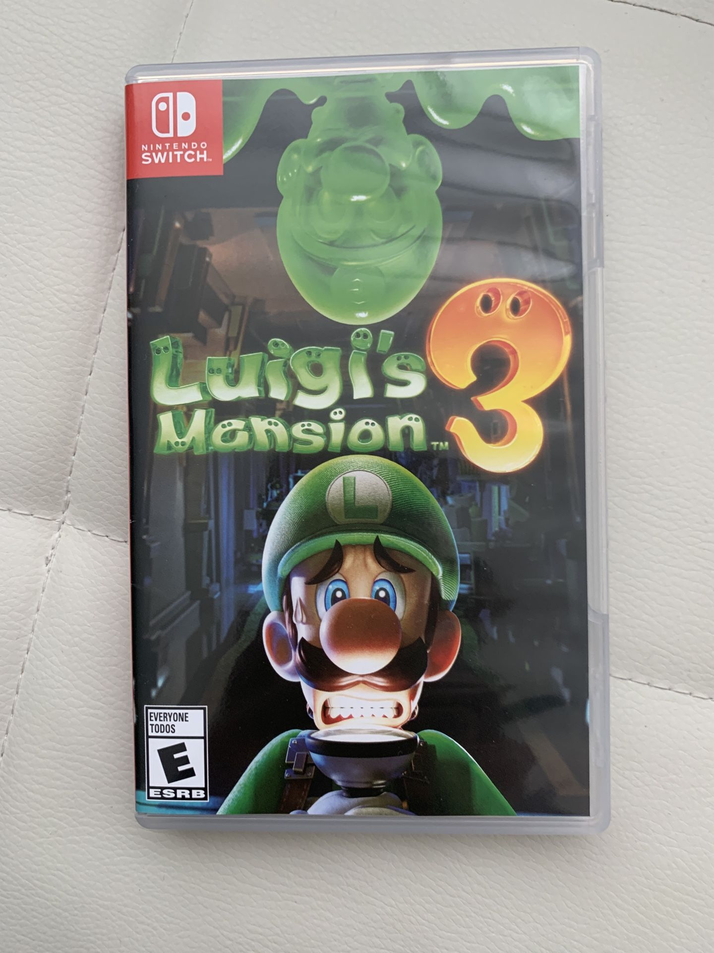 Luigi's Mansion 3 Game for Nintendo Switch, Like New excellent.   Cash or Venmo $40 Firm