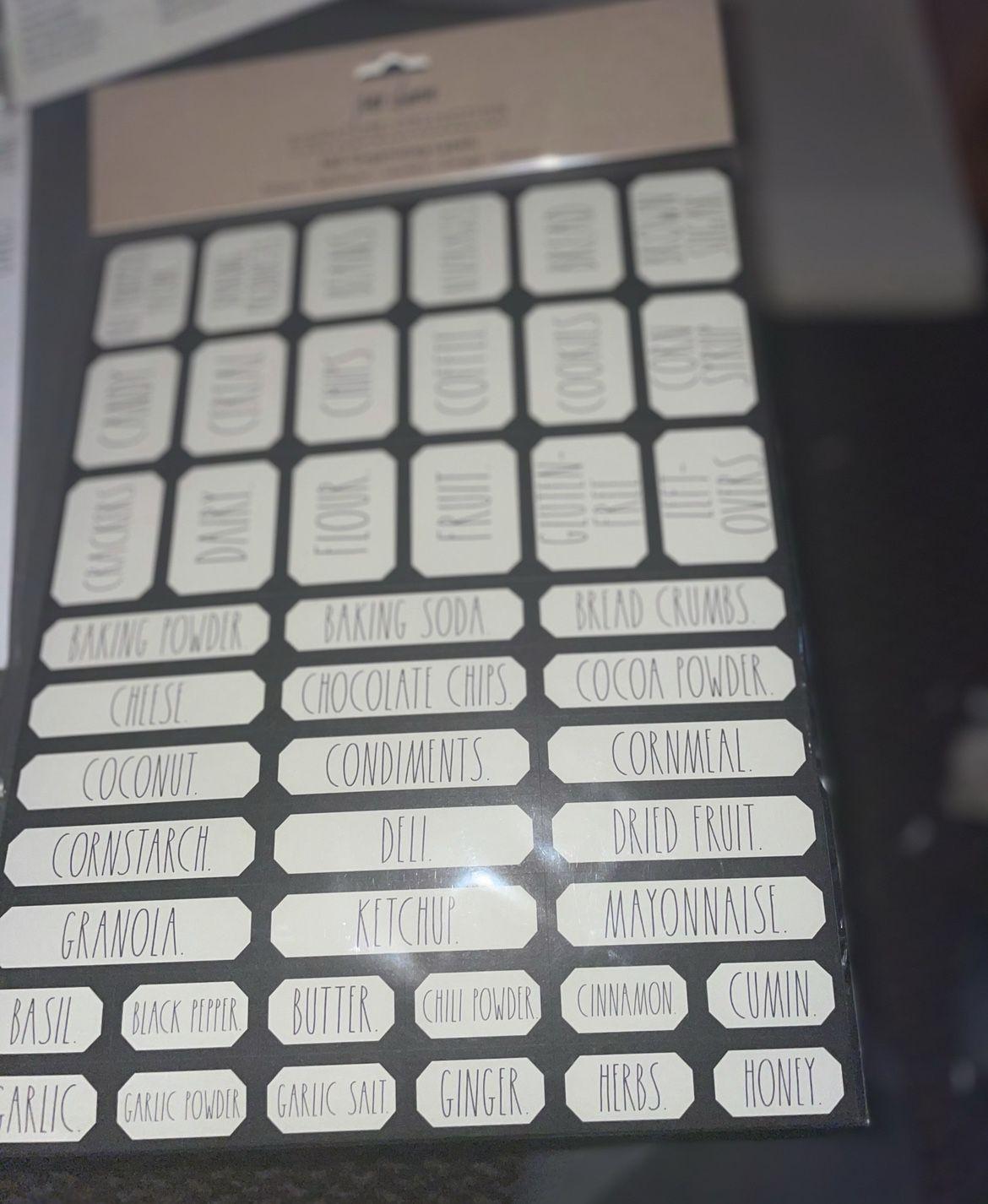 NIB Rae Dunn Household Labels - 3 Packs