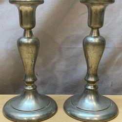 Vintage Daalderop Royal Holland Pewter Candlestick Holders Thumbnail
