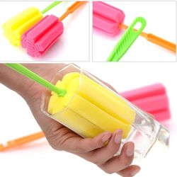 3 Pc Sponge Brush Milk Bottle Cup Glass Washing Cleaning Kitchen Cleaner Tool Thumbnail
