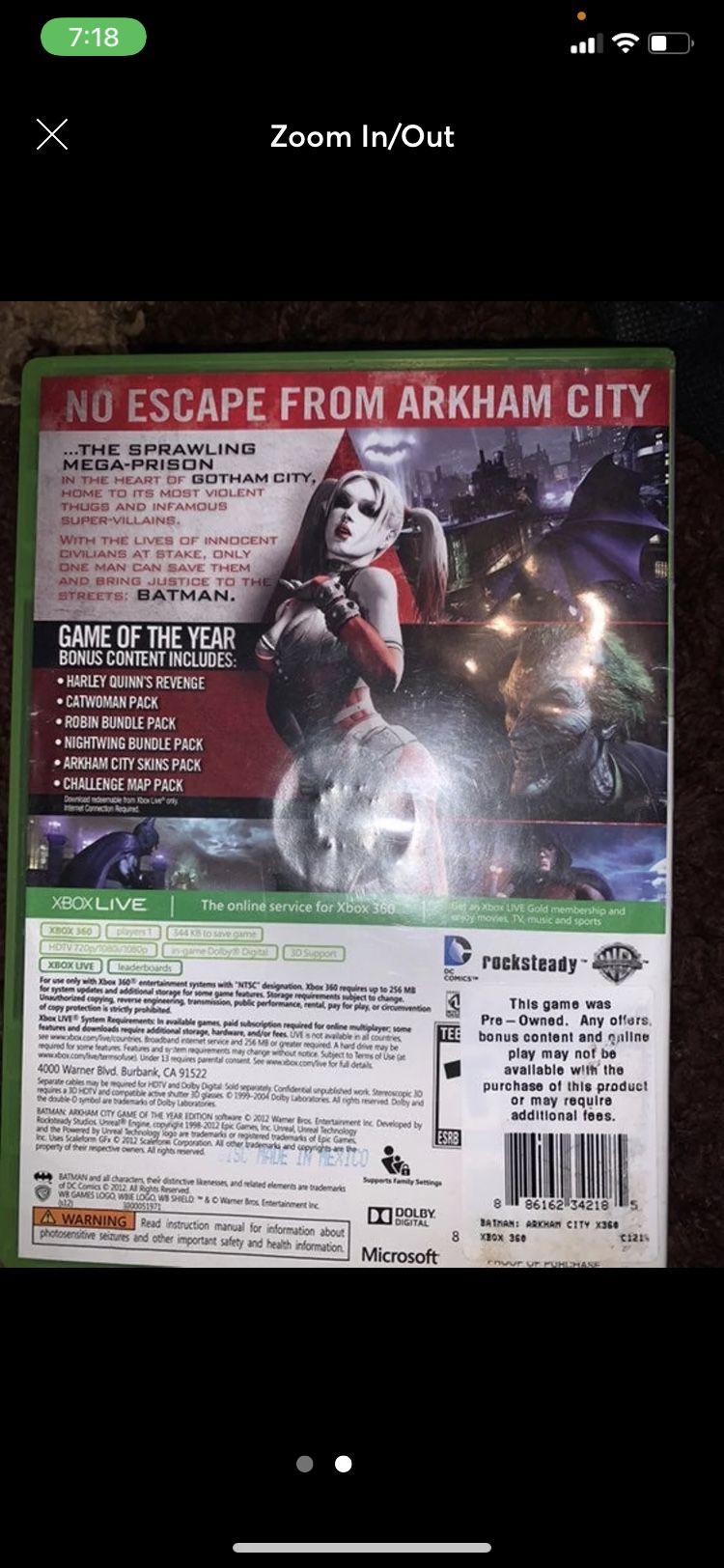 Batman: Arkham City on Xbox 360