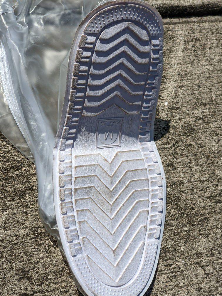 Rain Boot Waterproof Shoes Cover Women Men Kids Reusable PVC Rubber Sole Overshoes
