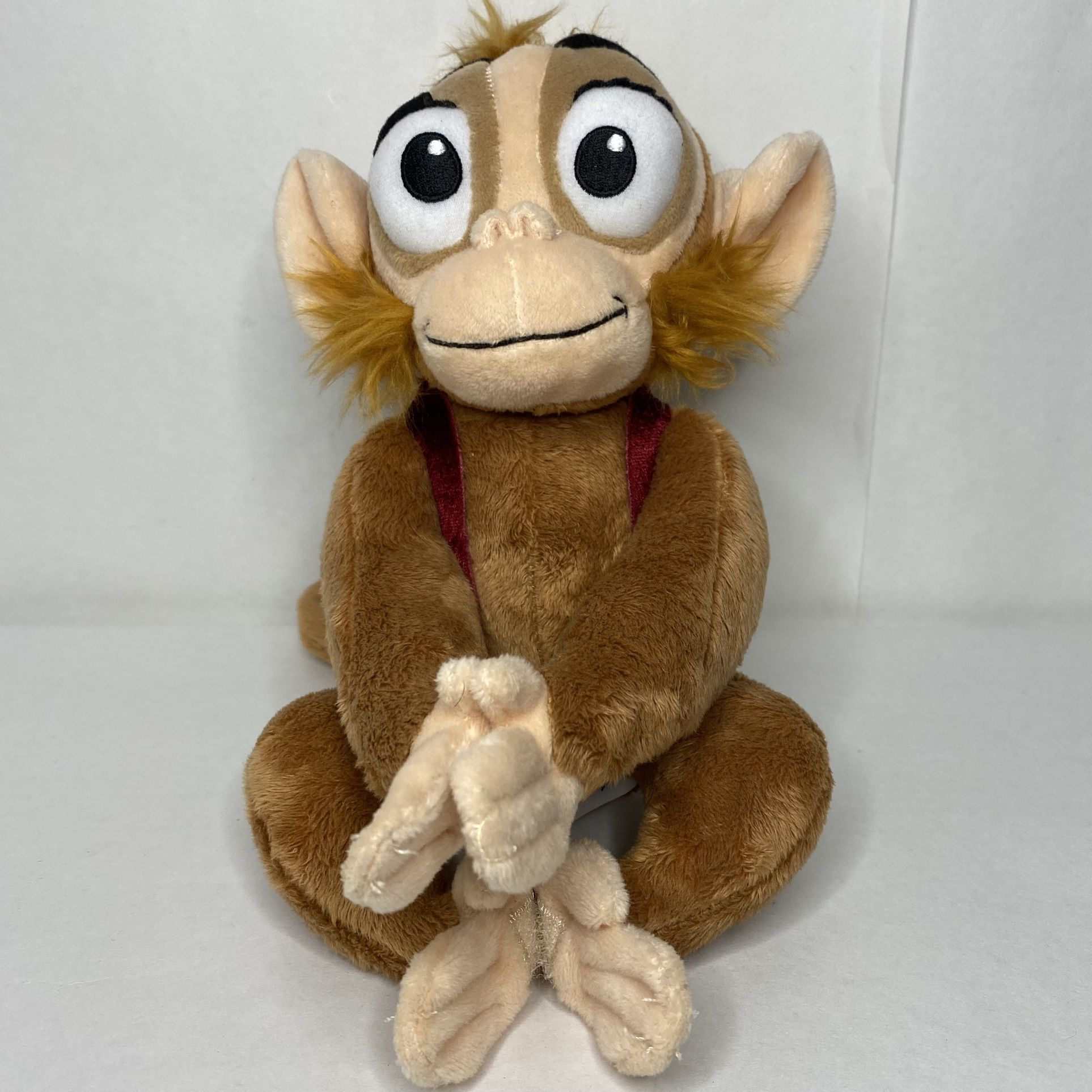 Vintage Disney Store Exclusive Abu Plush Monkey Aladdin Fasteners Hands And Feet