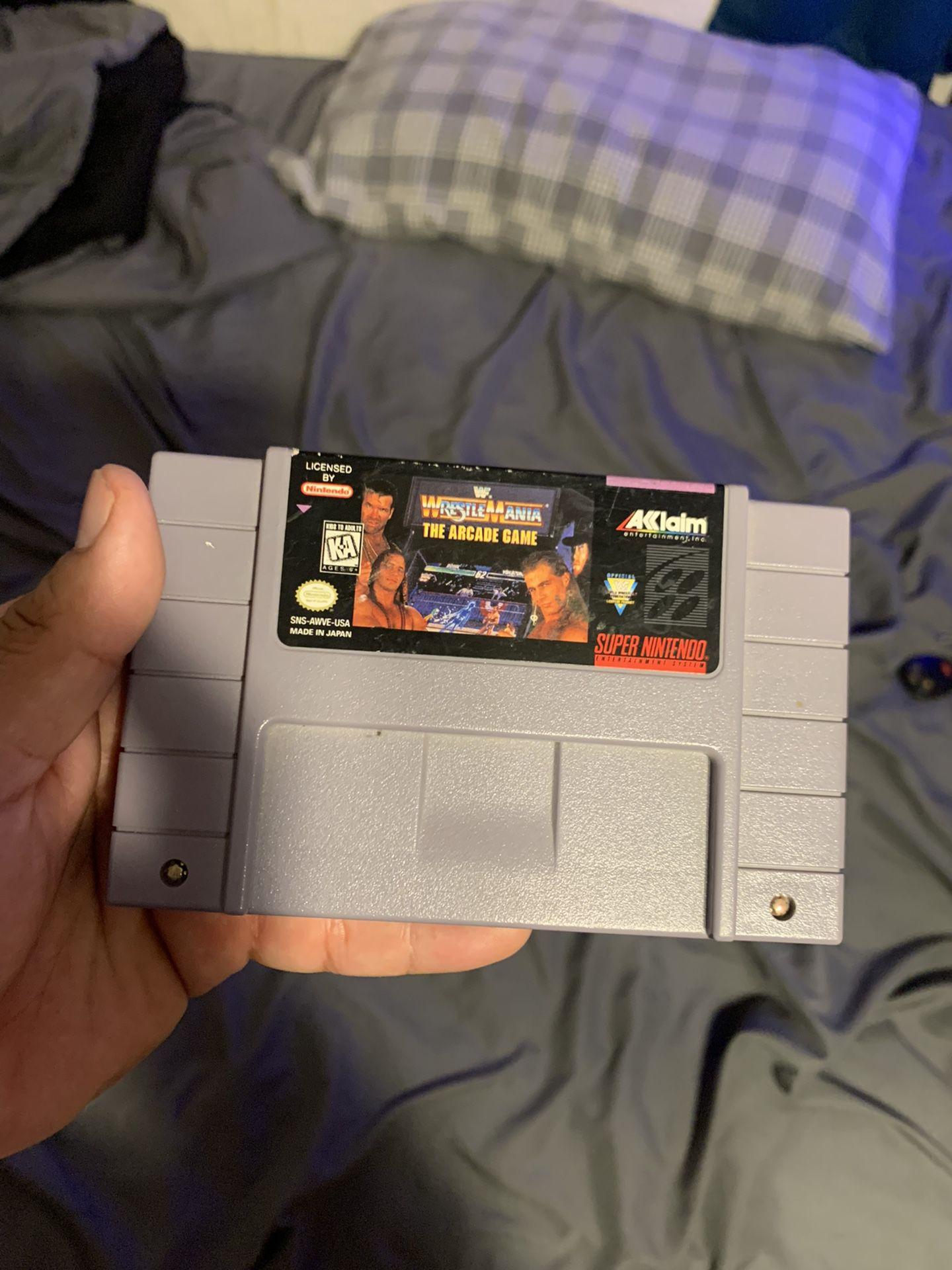 WrestleMania The Arcade Game . Super Nintendo