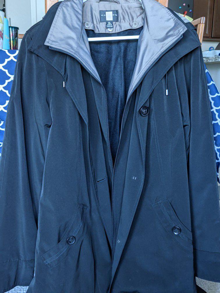 Brand New - Black Rain Jacket With Hood (XL)