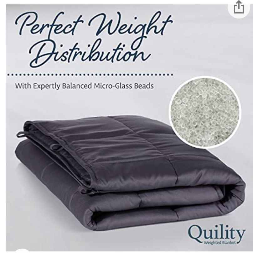 Quility 30lb Weighted Blanket Ivory King
