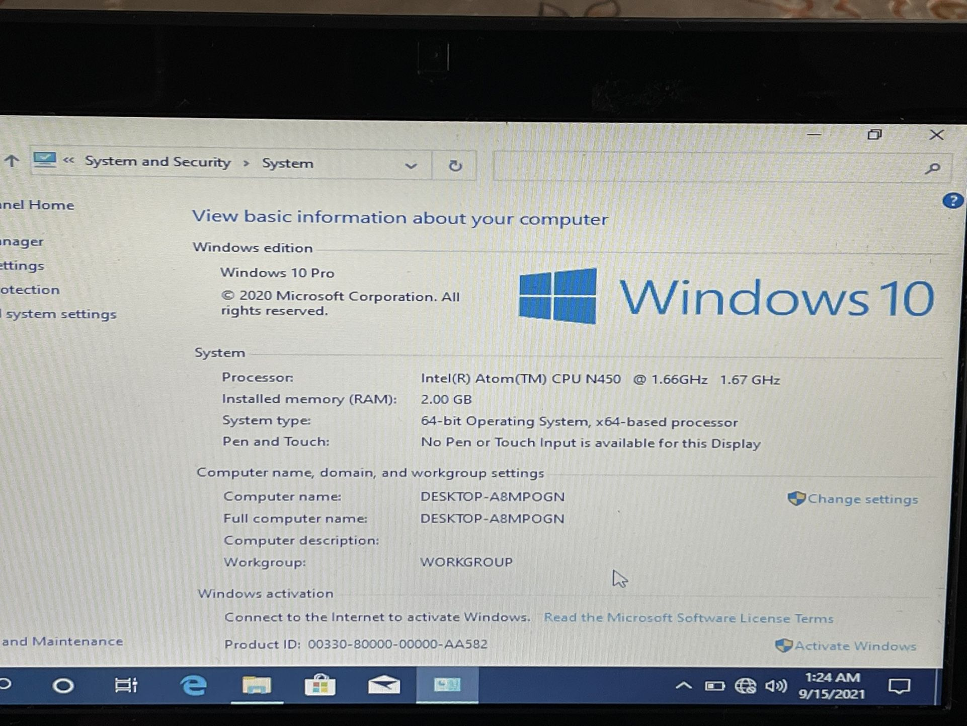Nice Gateway Mini Laptop 2 GB Ram 120gb Ssd Windows 10