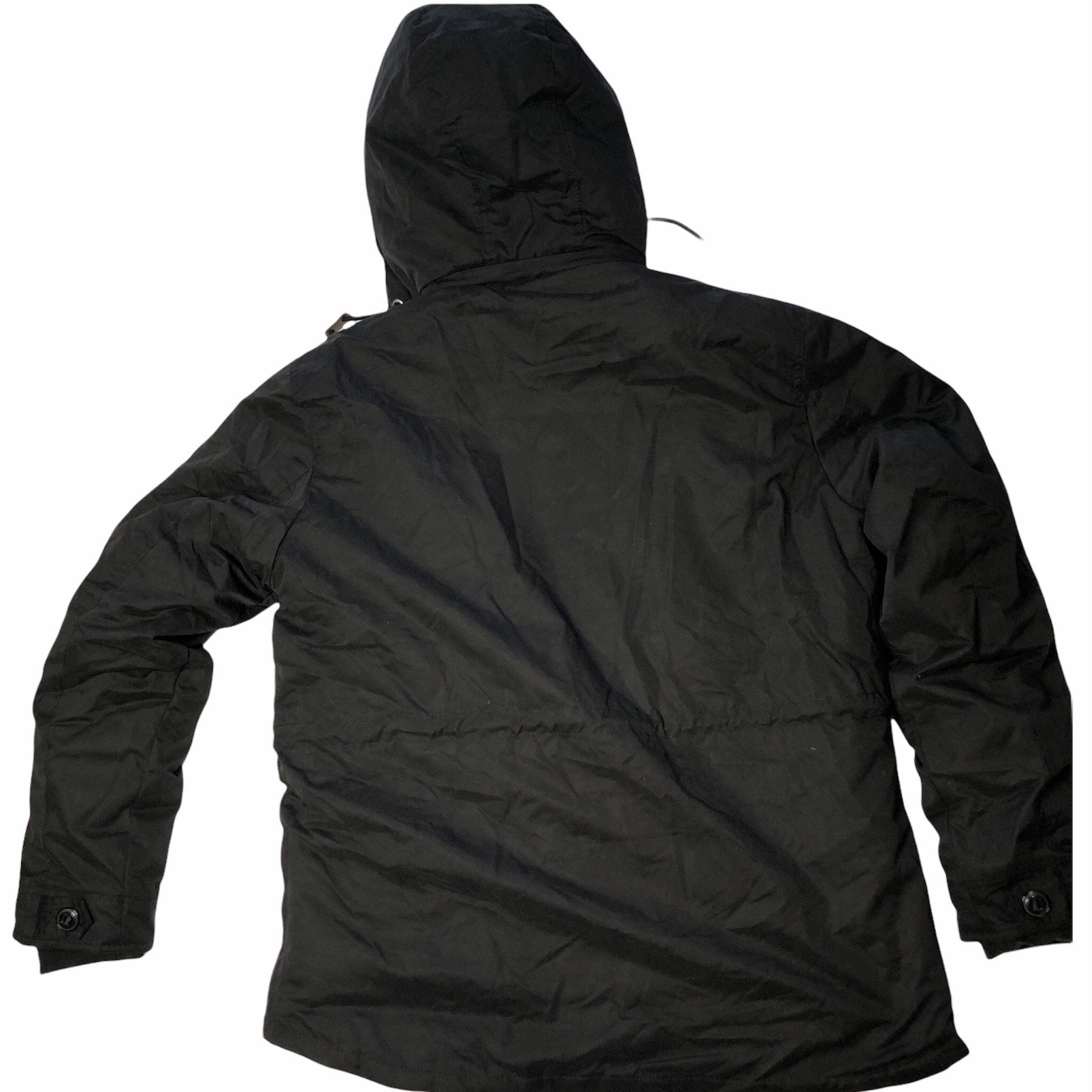 NEW! Black Winter Waterproof Parka Coat Windbreaker L