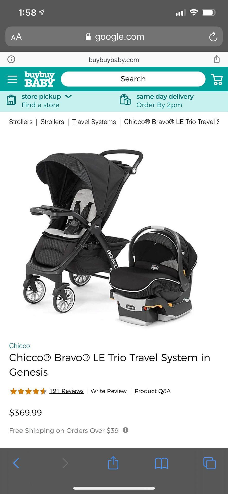 Chicco bravo LE trio travel system