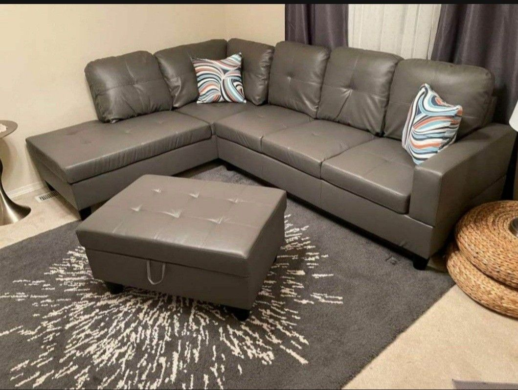 New Sectional And Ottoman