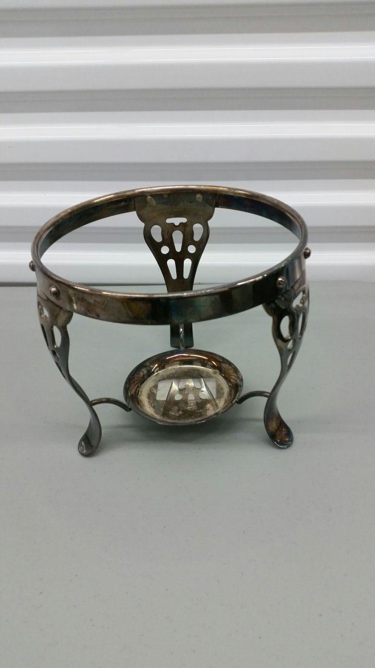 Silverplated Chafing Dish Holder Warmer
