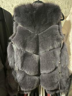 Real Fox For Coat Vest Thumbnail