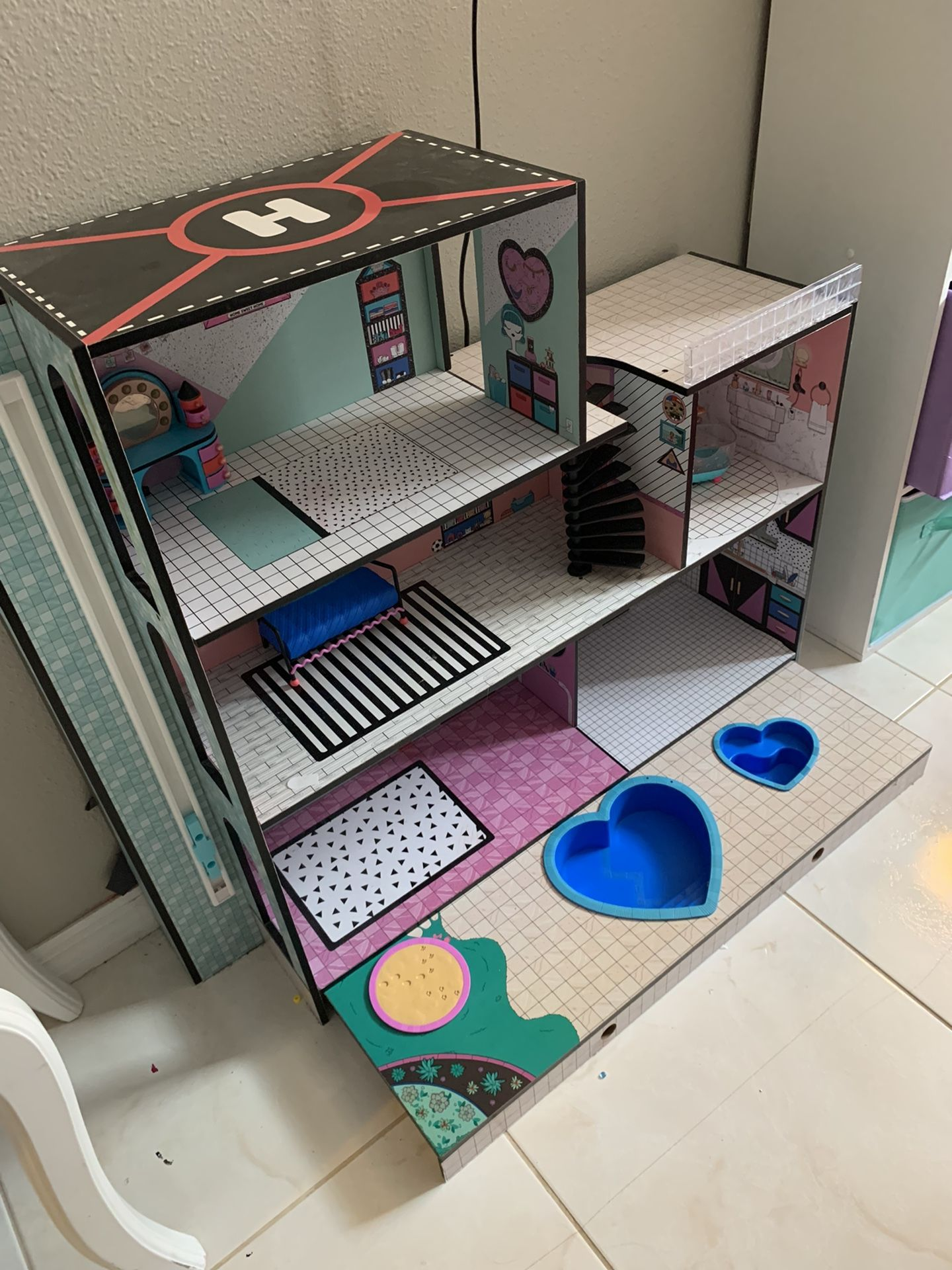 LOL Doll House, Dolls  and Misc. Accessories