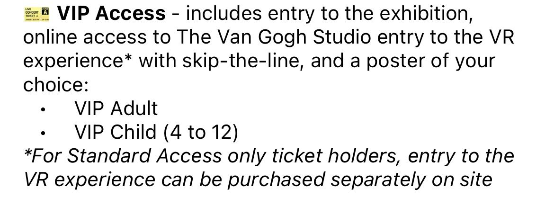 Van Gogh Immersive Experience - 2 VIP Tickets Saturday Oct 9 6:30pm