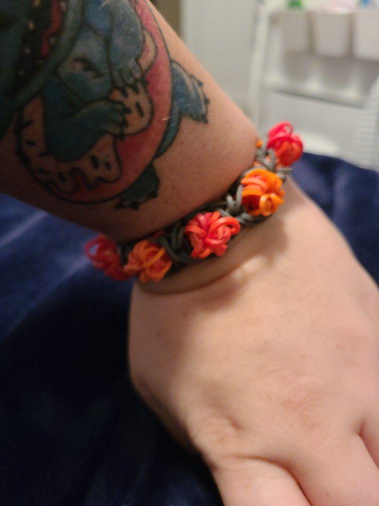 Rose Bracelet Rainbow Loom