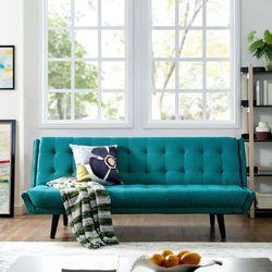 Glance Tufted Convertible Fabric Sofa Bed (3093-TEA) Thumbnail