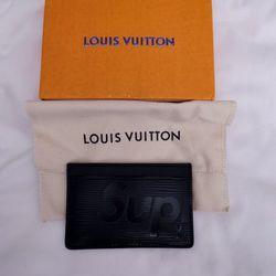LV Louis Vuitton x Supreme Porte Carte Simple Epi Black Card Wallet Thumbnail