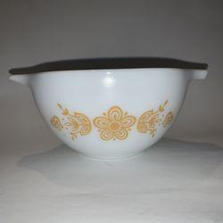 Vintage PYREX BUTTERFLY GOLD Nesting Bowl White #443 750 ml Thumbnail