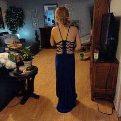 cobalt blue prom dress full length Thumbnail