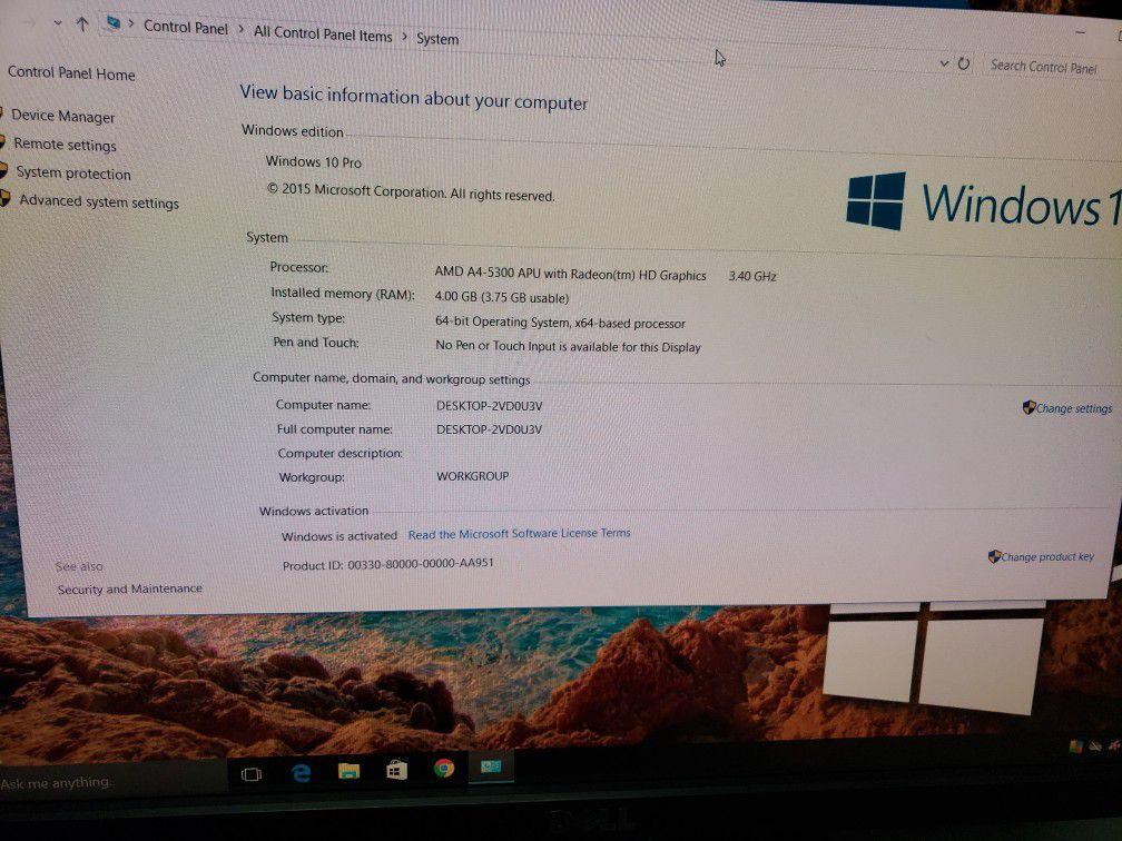 "Lenovo Thinkcentre M Series Desktop ""22 Monitor With Radeon 7480D Graphics"
