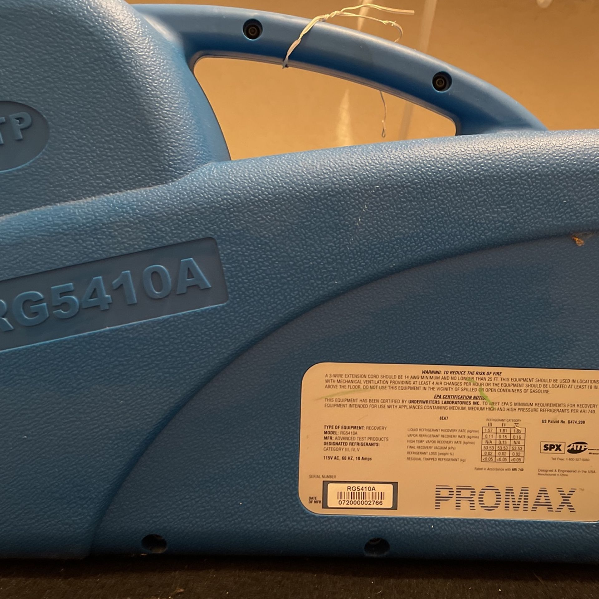 Freon Recovery Unit ,  Used Maybe Twice Excellent Condition.