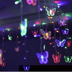 11.5 Ft LED Butterfly String Lights, B bangcool Valentine's Day 96 Butterflies Lights Decor for Indoor/Outdoor/ Christmas/Birthday/Holiday/Valentine/W Thumbnail