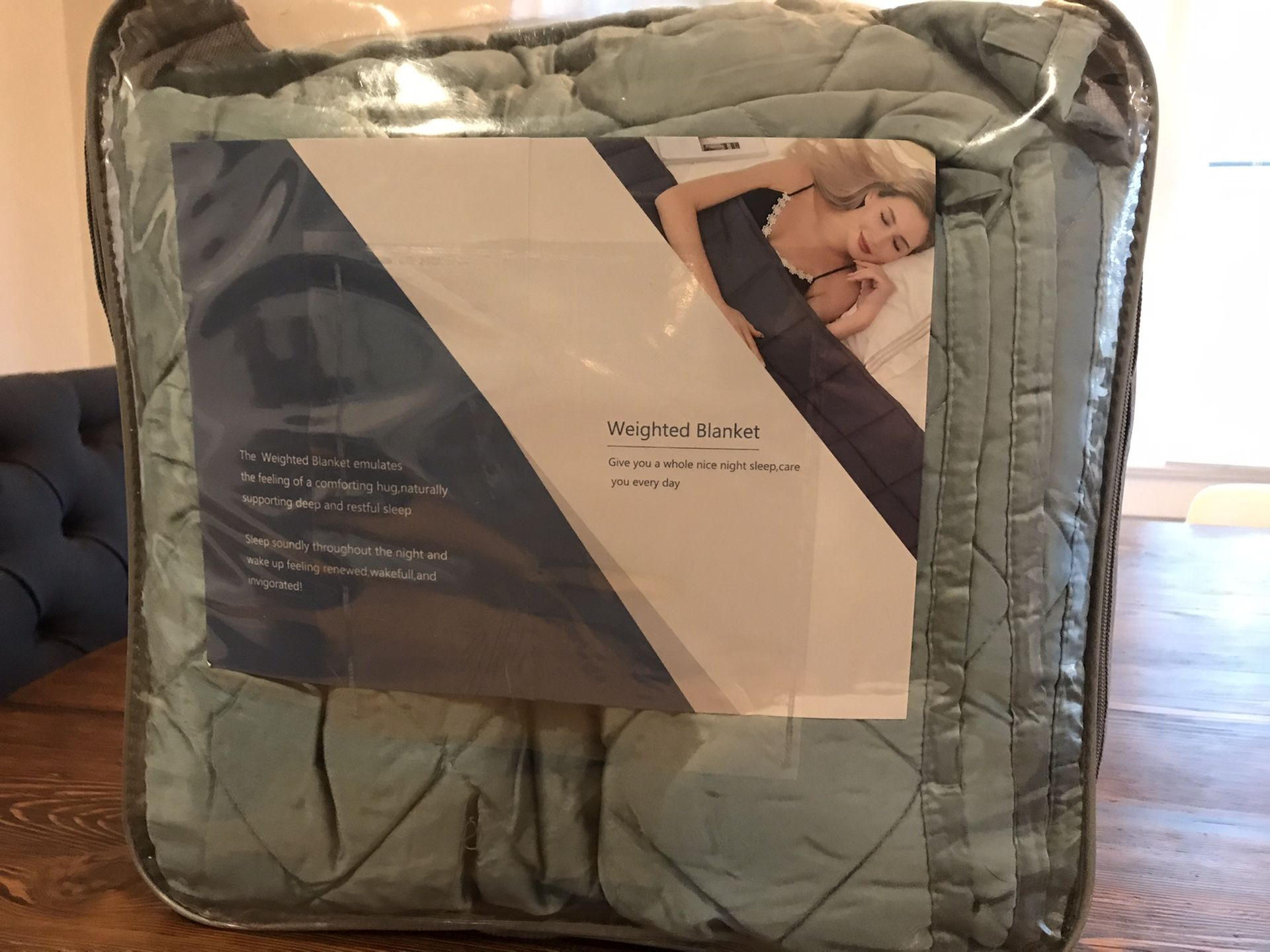 Brand new weighted blanket with cover