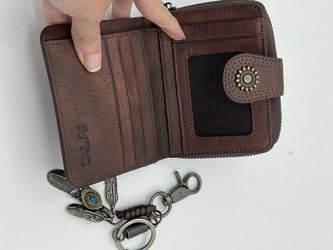 Ladies Leather Wallet And Key Chain Thumbnail