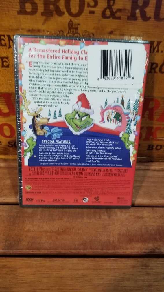 Dr. Seuss' How The Grinch Stole Christmas Delux Edition Brand New Sealed
