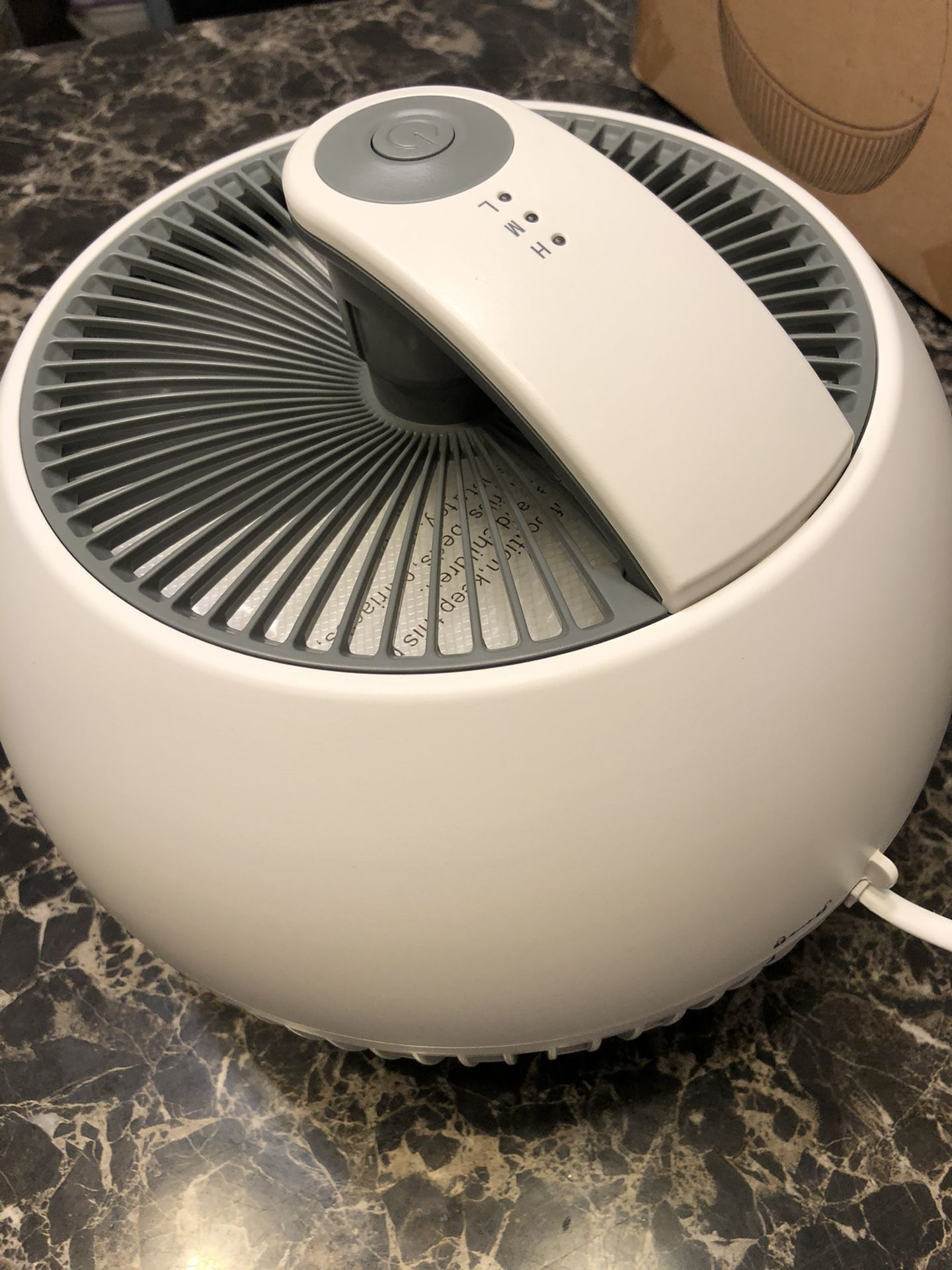 TRUSTECH Air Purifier xHome,True HEPA Filter Air Cleaner for Room with 3 Fan Speeds, 3 Stage Filter.