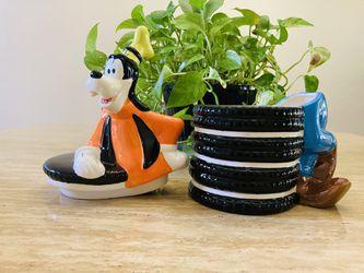 """Disney Goofy Ceramic Cookie Jar Oreos Theme 12"""" - NWT Thumbnail"""