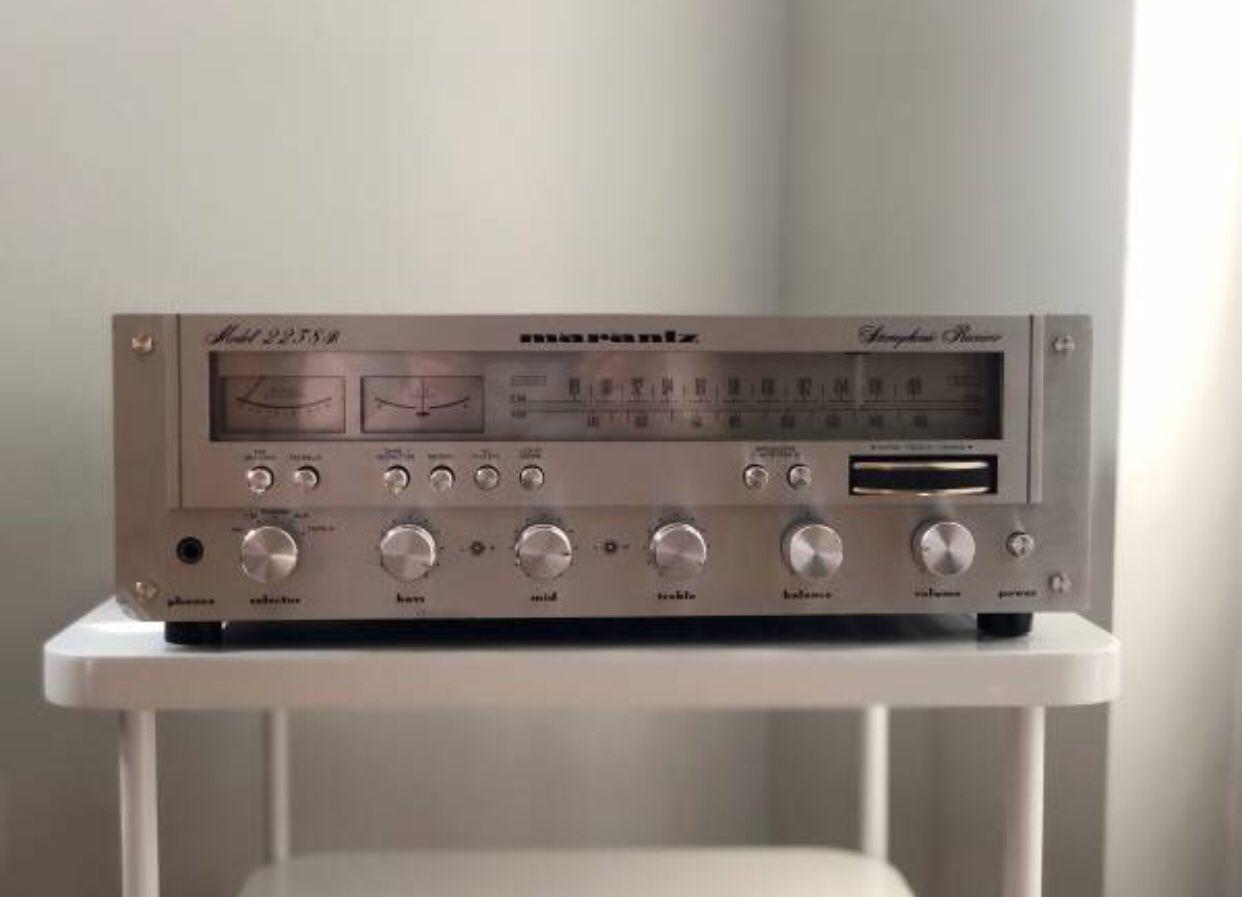 Marantz 2238B Vintage Stereo Receiver, LED Upgrade Cool Blue