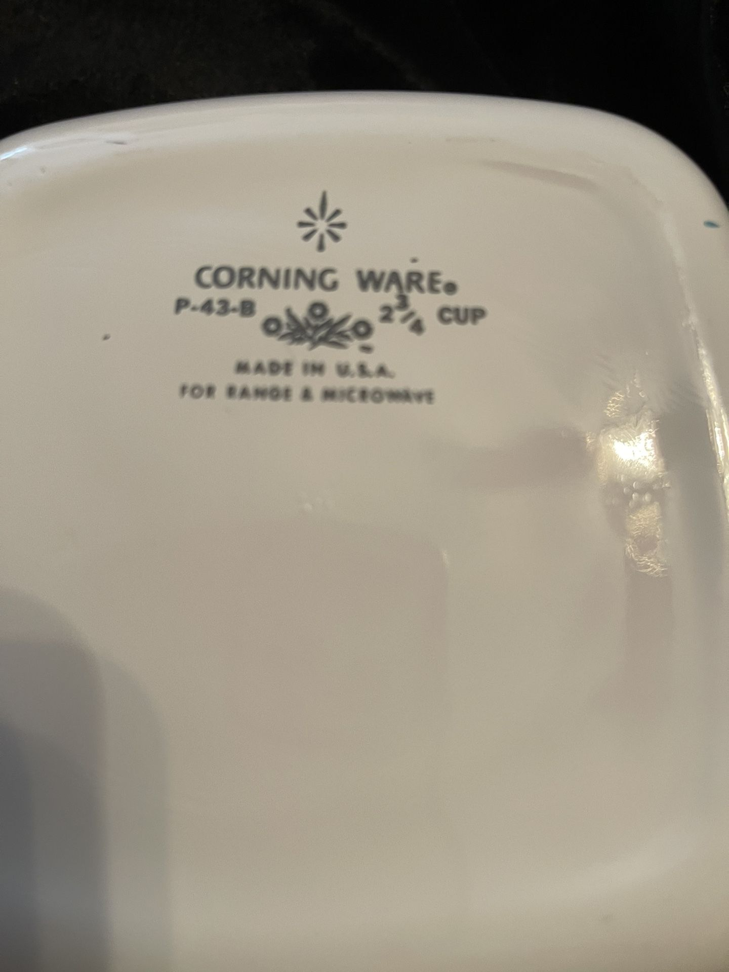 Corningware 2 3/4cup Blue Cornflower With Plastic Lid