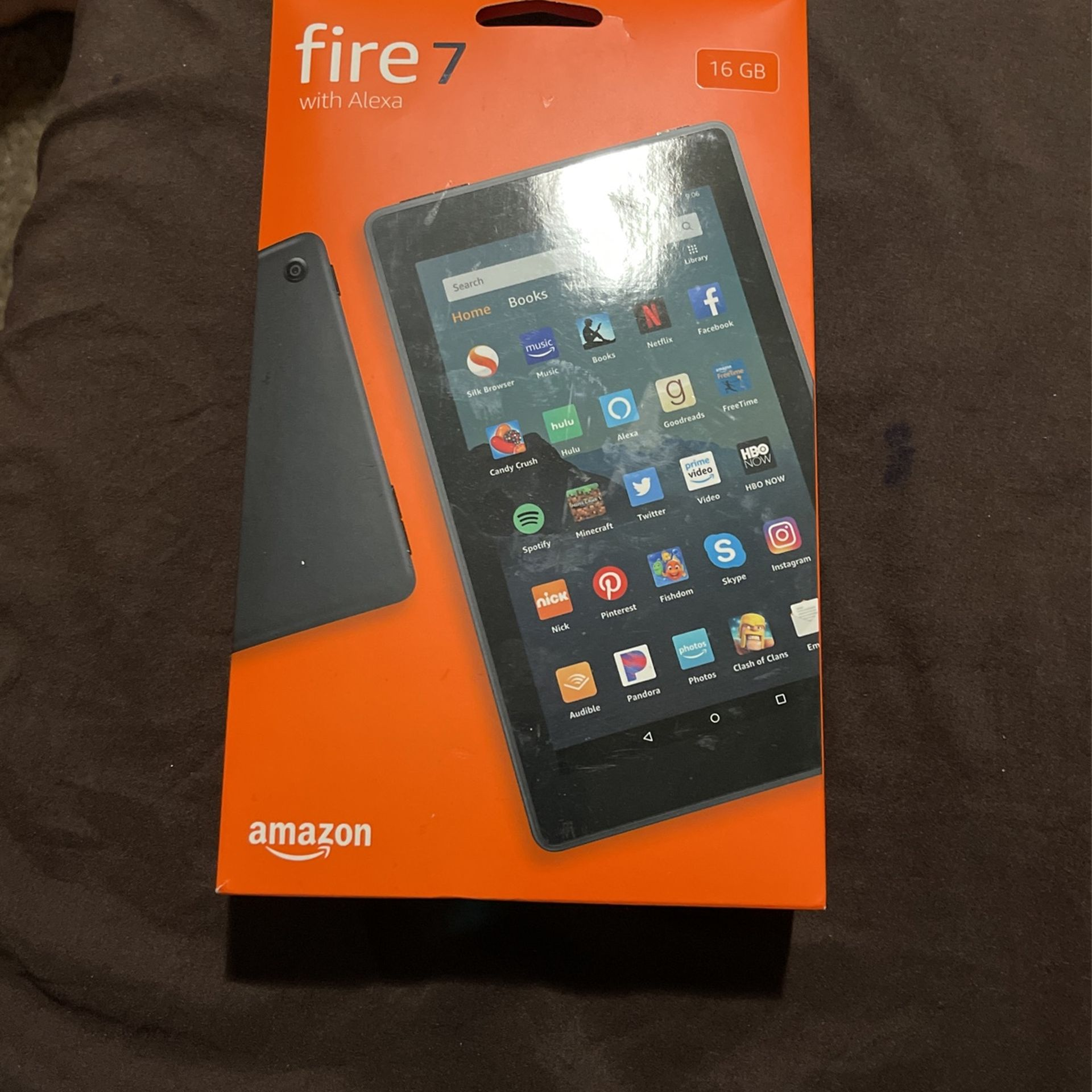 """Fire 7 tablet, 7"""" display, 16 GB, latest model (2019 release), Black"""