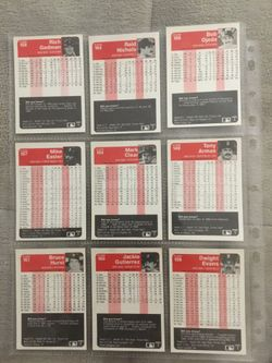 1984/1985 Fleer baseball cards. 562 total cards. Thumbnail