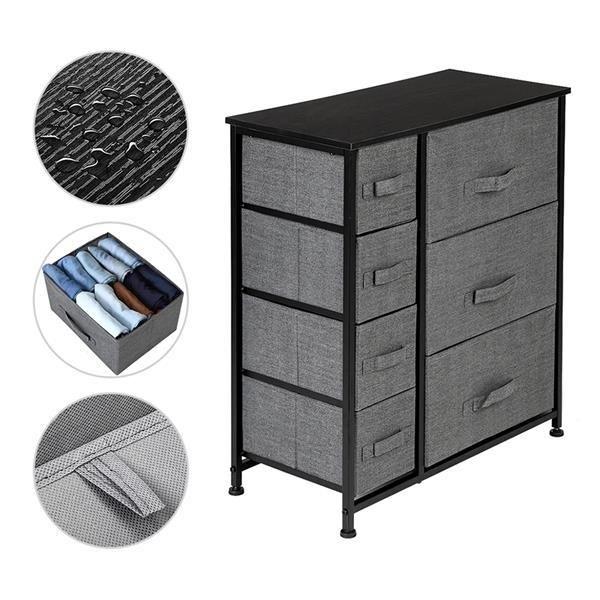 Dresser With 7 Drawers - Furniture Storage Tower Unit For Bedroom, Hallway, Closet, Office Organization - Steel Frame,