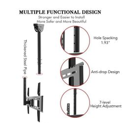 """LEADZM TMC-7006 Ceiling Mount TV Wall Bracket Roof Rack Pole Retractable For 32""""-70"""" Flat Screen Thumbnail"""