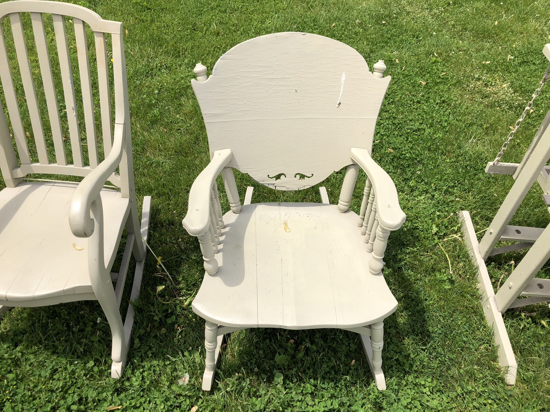 Antique Rocking Rocker Chair Home Deck Porch Or Patio Furniture