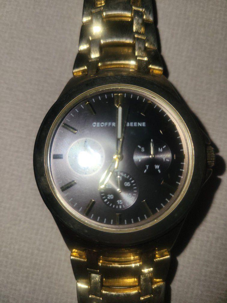 Geoffrey Beene Gold Plate Watch Needs Battery