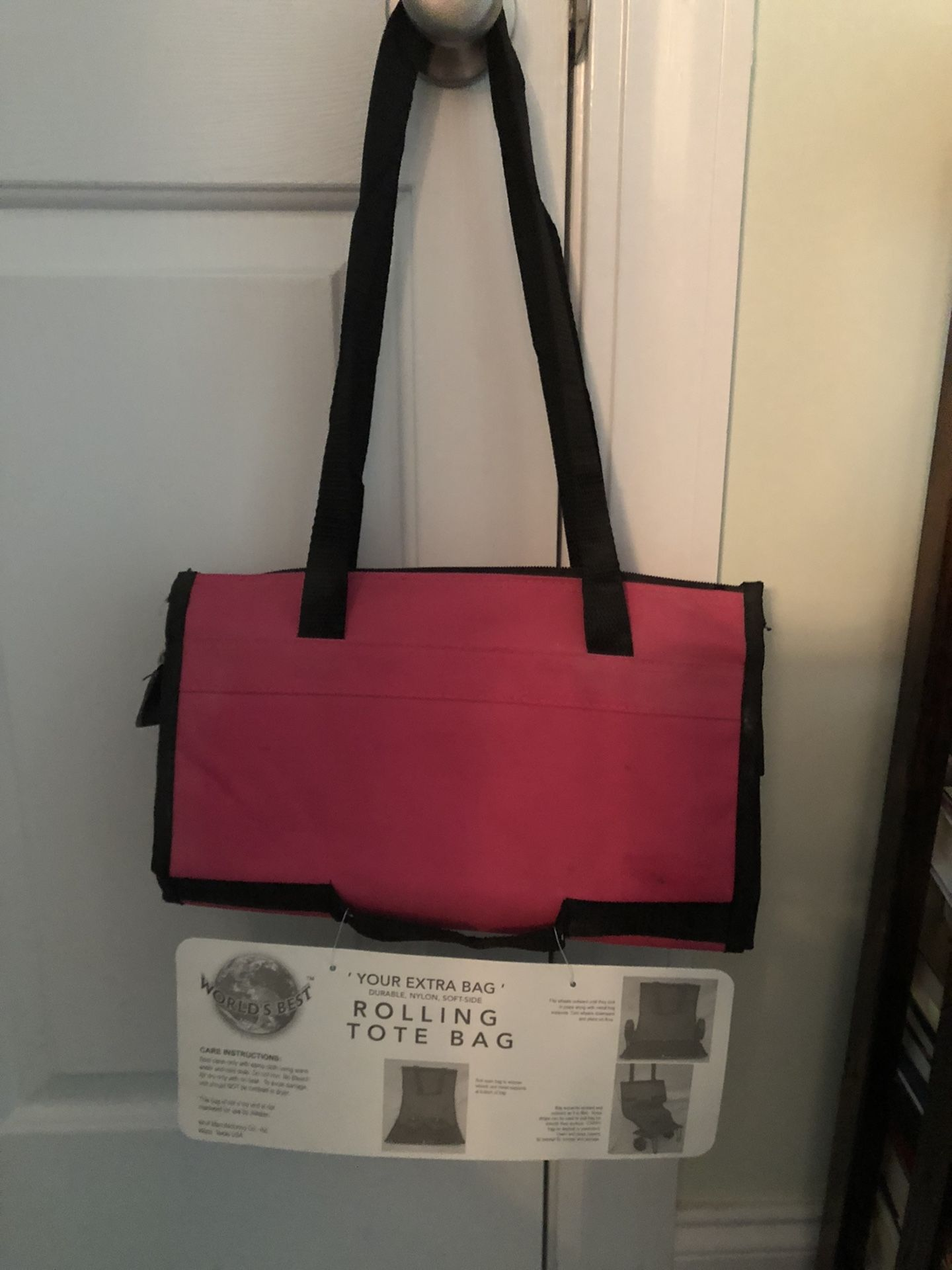Tote Bag Rolling Folds Into Compact Space New Never Used