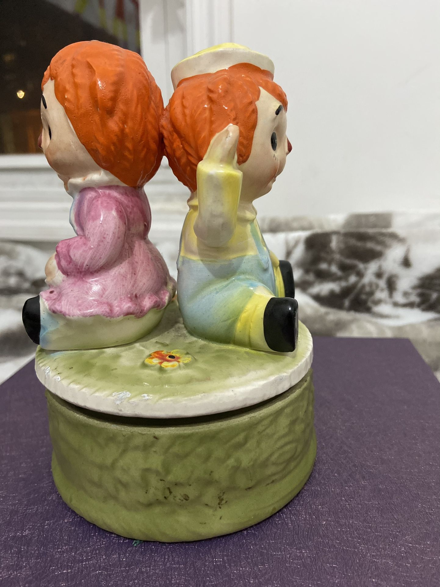Vintage Raggedy Ann And Andy Music Box